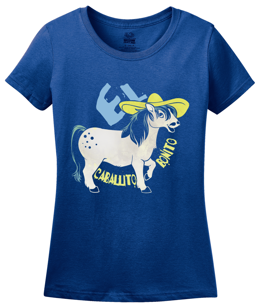 Ladies Royal El Caballito Bonito - Spanish Translation Cute Little Pony T-shirt