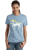 Ladies Light Blue El Unicornio - Spanish Translation Unicorn Funny Cute Narwhal T-shirt