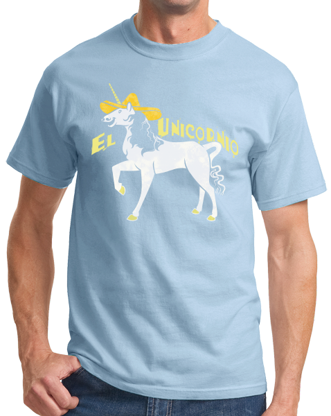 Standard Light Blue El Unicornio - Spanish Translation Unicorn Funny Cute Narwhal T-shirt