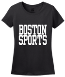 Ladies Black Boston Sports - Generic Funny Sports Fan T-shirt