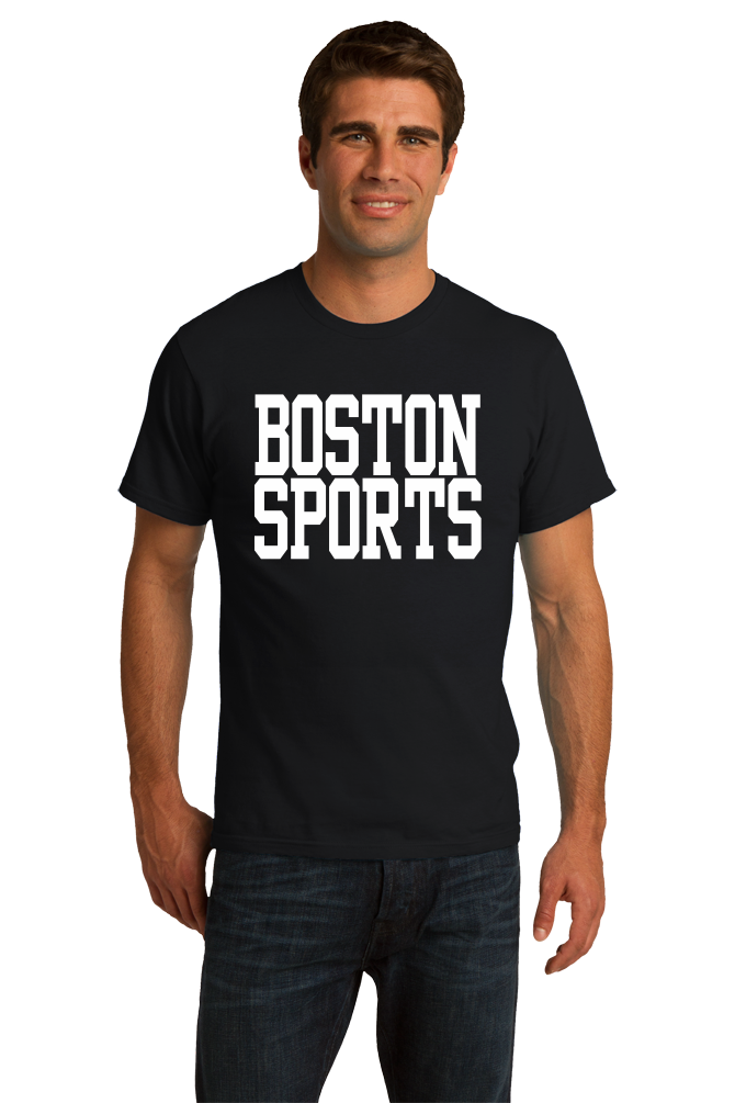 Standard Black Boston Sports - Generic Funny Sports Fan T-shirt