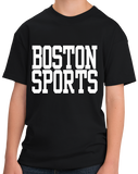 Youth Black Boston Sports - Generic Funny Sports Fan T-shirt