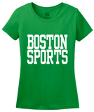 Ladies Green Boston Sports - Generic Funny Sports Fan T-shirt