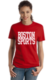 Ladies Red Boston Sports - Generic Funny Sports Fan T-shirt