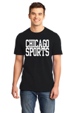 Standard Black Chicago Sports - Generic Funny Sports Fan T-shirt