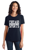 Ladies Navy Chicago Sports - Generic Funny Sports Fan T-shirt