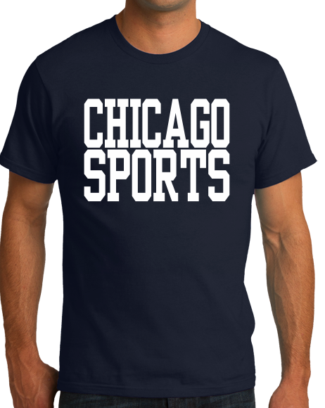 Standard Navy Chicago Sports - Generic Funny Sports Fan T-shirt