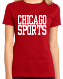 Ladies Red Chicago Sports - Generic Funny Sports Fan T-shirt