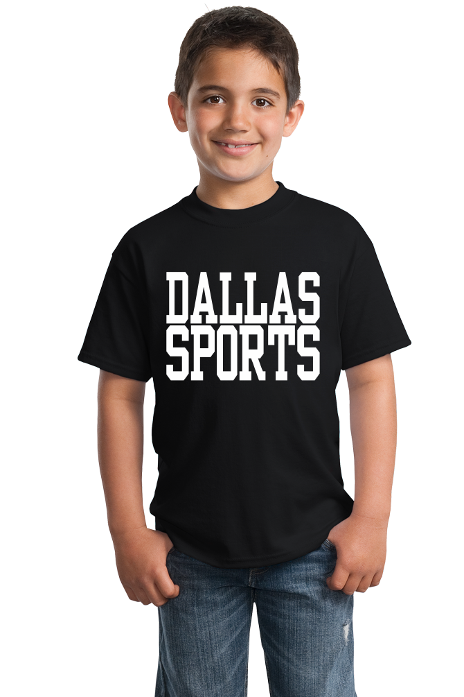 Youth Black Dallas Sports - Generic Funny Sports Fan T-shirt