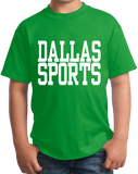 Youth Green Dallas Sports - Generic Funny Sports Fan T-shirt
