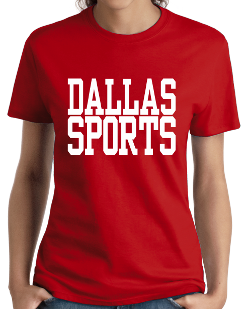 Ladies Red Dallas Sports - Generic Funny Sports Fan T-shirt
