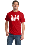 Standard Red Dallas Sports - Generic Funny Sports Fan T-shirt