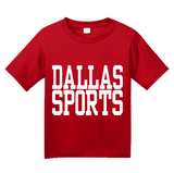 Youth Red Dallas Sports - Generic Funny Sports Fan T-shirt