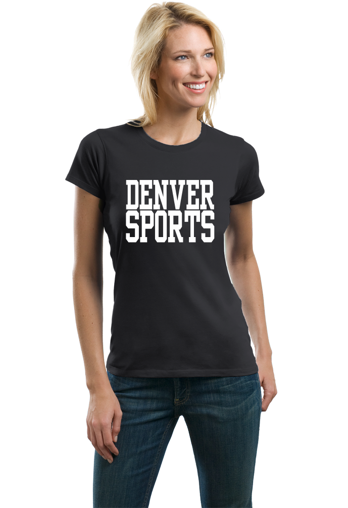 Ladies Black Denver Sports - Generic Funny Sports Fan T-shirt