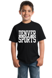 Youth Black Denver Sports - Generic Funny Sports Fan T-shirt