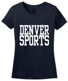 Ladies Navy Denver Sports - Generic Funny Sports Fan T-shirt