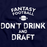 FANTASY FOOTBALL: DON'T DRINK AND DRAFT Navy art preview