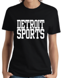 Ladies Black Detroit Sports - Generic Funny Sports Fan T-shirt