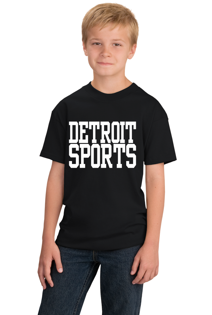 Youth Black Detroit Sports - Generic Funny Sports Fan T-shirt