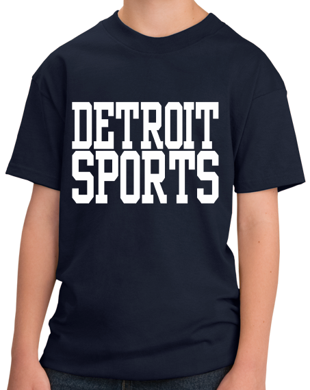 Youth Navy Detroit Sports - Generic Funny Sports Fan T-shirt