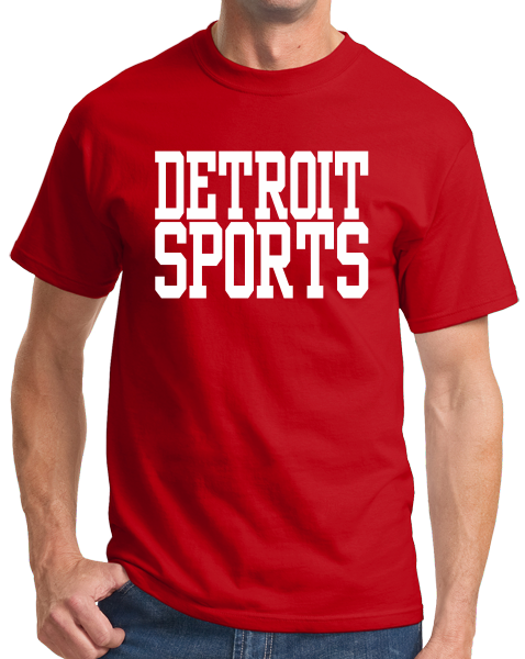 Standard Red Detroit Sports - Generic Funny Sports Fan T-shirt