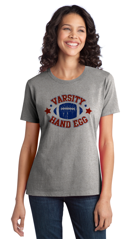 Ladies Grey Varsity Hand Egg - Reddit Football Anti-Sports Humor