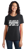 Ladies Black Los Angeles Sports - Generic Funny Sports Fan T-shirt