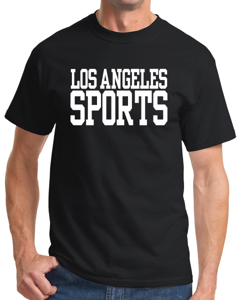 Standard Black Los Angeles Sports - Generic Funny Sports Fan T-shirt
