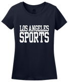 Ladies Navy Los Angeles Sports - Generic Funny Sports Fan T-shirt