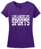 Ladies Purple Los Angeles Sports - Generic Funny Sports Fan T-shirt