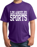 Youth Purple Los Angeles Sports - Generic Funny Sports Fan T-shirt