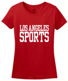 Ladies Red Los Angeles Sports - Generic Funny Sports Fan T-shirt