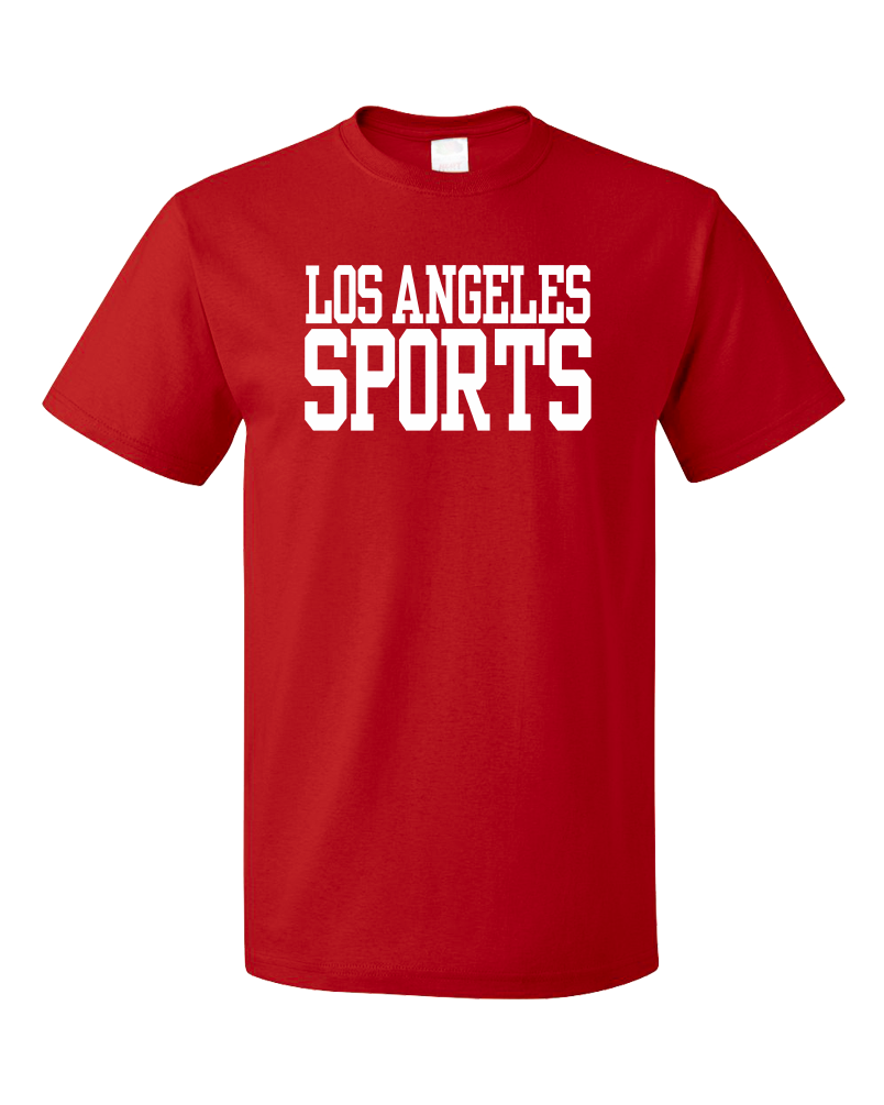 Standard Red Los Angeles Sports - Generic Funny Sports Fan T-shirt