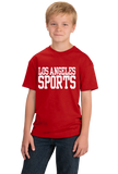 Youth Red Los Angeles Sports - Generic Funny Sports Fan T-shirt