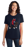 Ladies Navy Chicago Sports Fan Mash-Up T-shirt