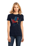 Ladies Navy Detroit Sports Fan Mash-Up - Motown, Motor City Athletics T-shirt