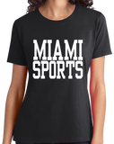 Ladies Black Miami Sports - Generic Funny Sports Fan T-shirt