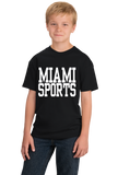 Youth Black Miami Sports - Generic Funny Sports Fan T-shirt