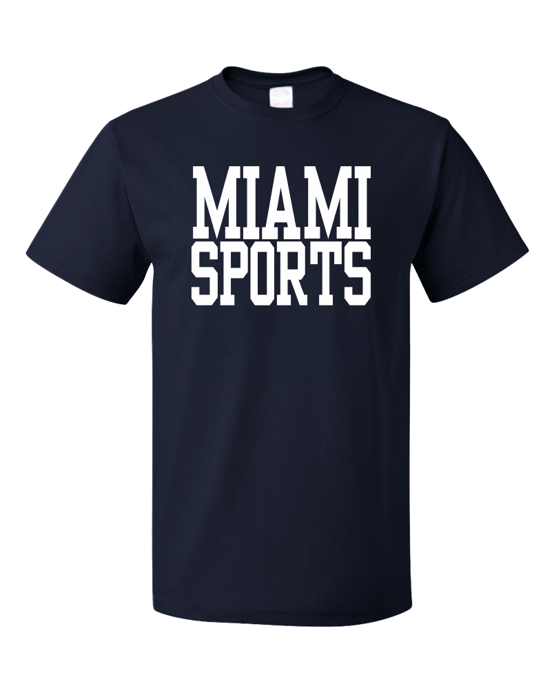Standard Navy Miami Sports - Generic Funny Sports Fan T-shirt