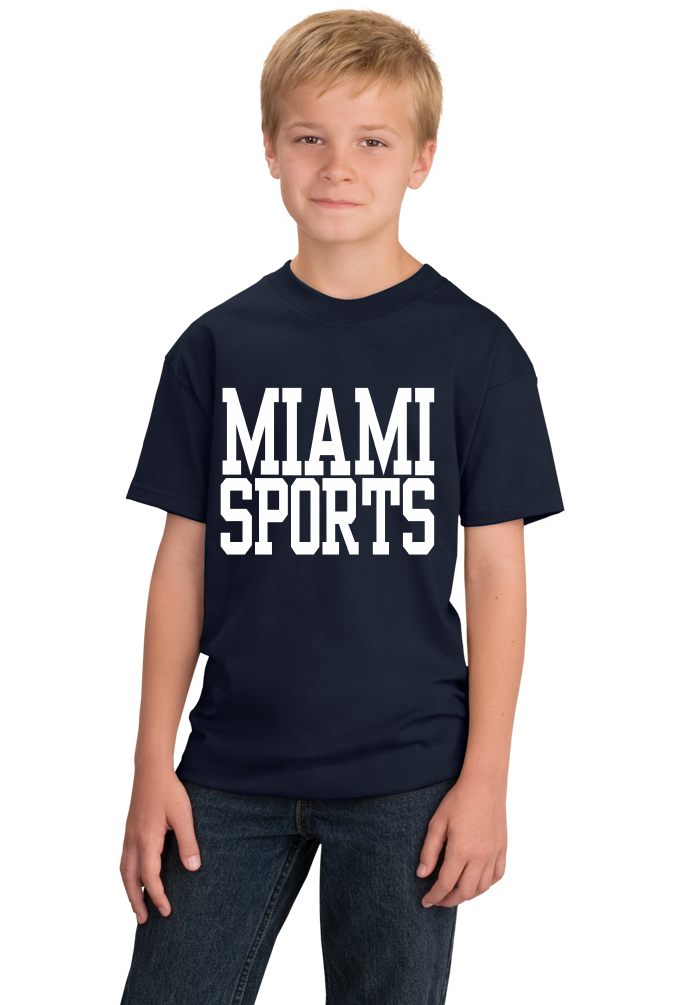 Youth Navy Miami Sports - Generic Funny Sports Fan T-shirt