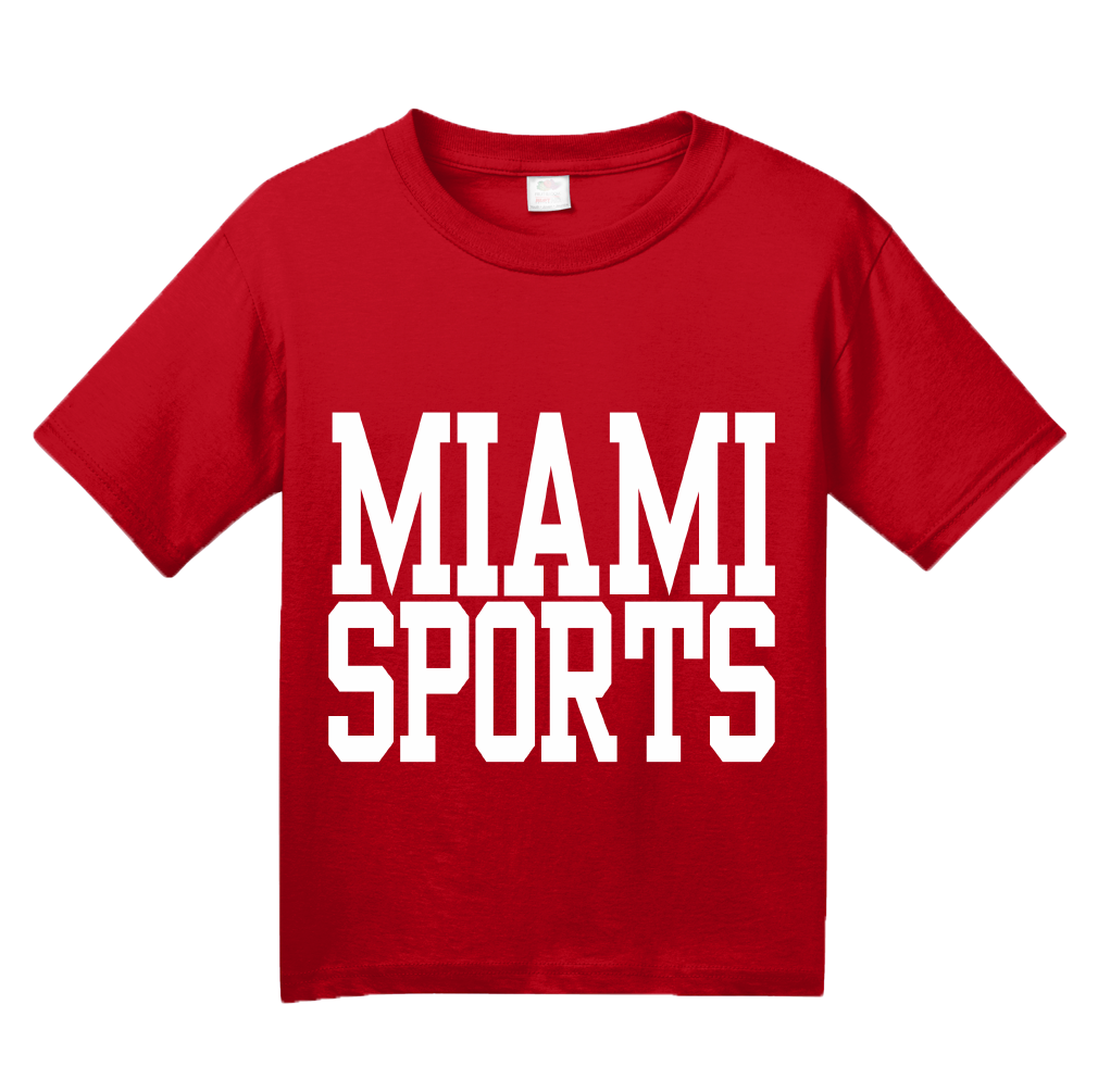 Youth Red Miami Sports - Generic Funny Sports Fan T-shirt