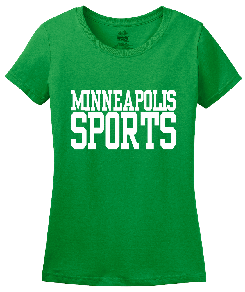 Ladies Green Minneapolis Sports - Generic Funny Sports Fan T-shirt