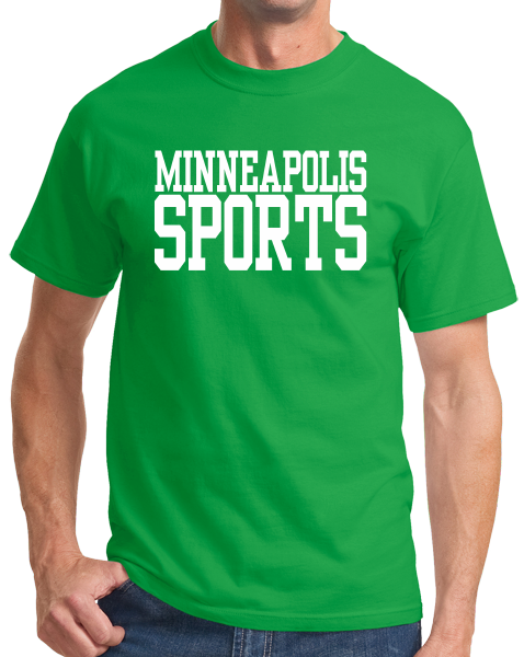 Standard Green Minneapolis Sports - Generic Funny Sports Fan T-shirt
