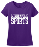 Ladies Purple Minneapolis Sports - Generic Funny Sports Fan T-shirt