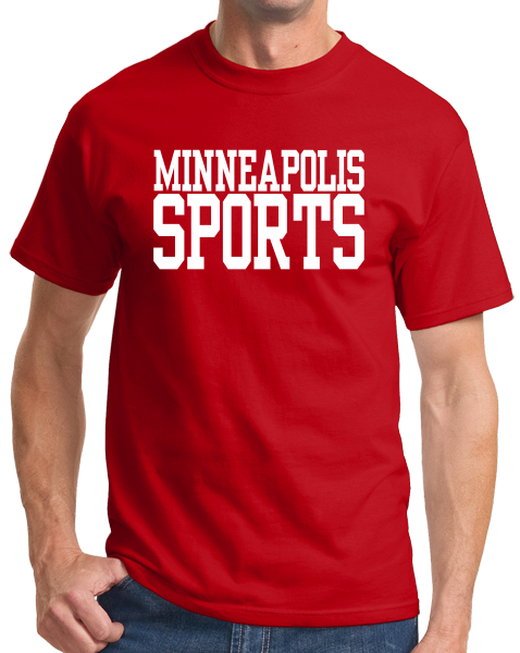 Standard Red Minneapolis Sports - Generic Funny Sports Fan T-shirt
