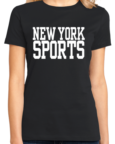 Ladies Black New York Sports - Generic Funny Sports Fan T-shirt