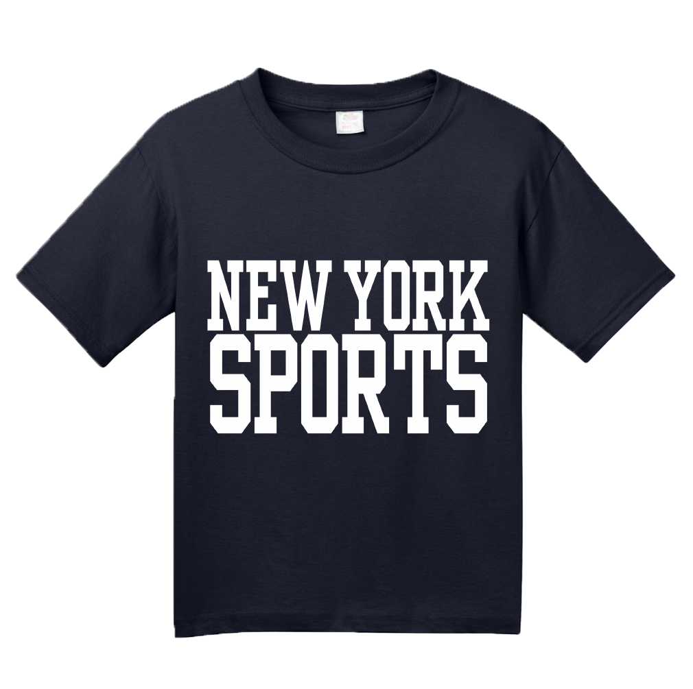 Youth Navy New York Sports - Generic Funny Sports Fan T-shirt