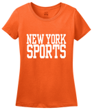 Ladies Orange New York Sports - Generic Funny Sports Fan T-shirt