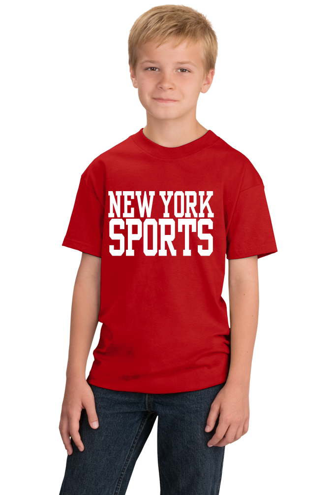 Youth Red New York Sports - Generic Funny Sports Fan T-shirt