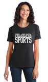 Ladies Black Philadelphia Sports - Generic Funny Sports Fan T-shirt